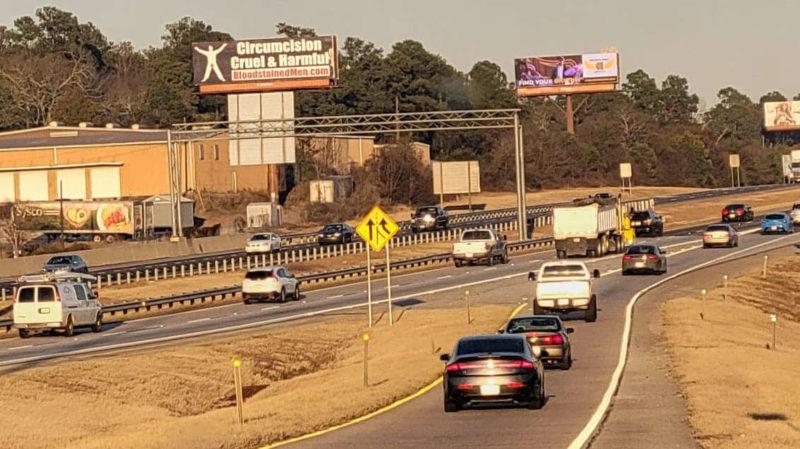 Augusta, Georgia Billboard – Circumcision: Cruel & Harmful