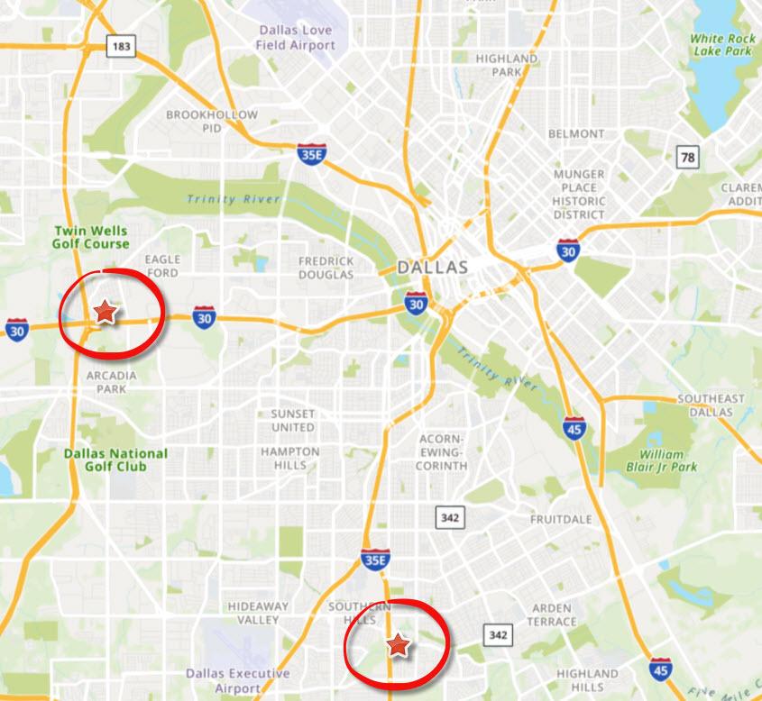 Map of Dallas Billboards – Circumcision: Cruel & Harmful