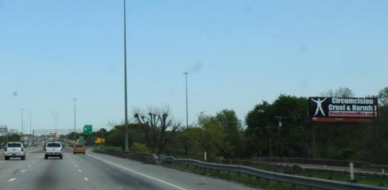 Dallas I-35E Billboard – Circumcision: Cruel & Harmful
